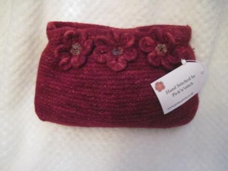 Felted clutch bag